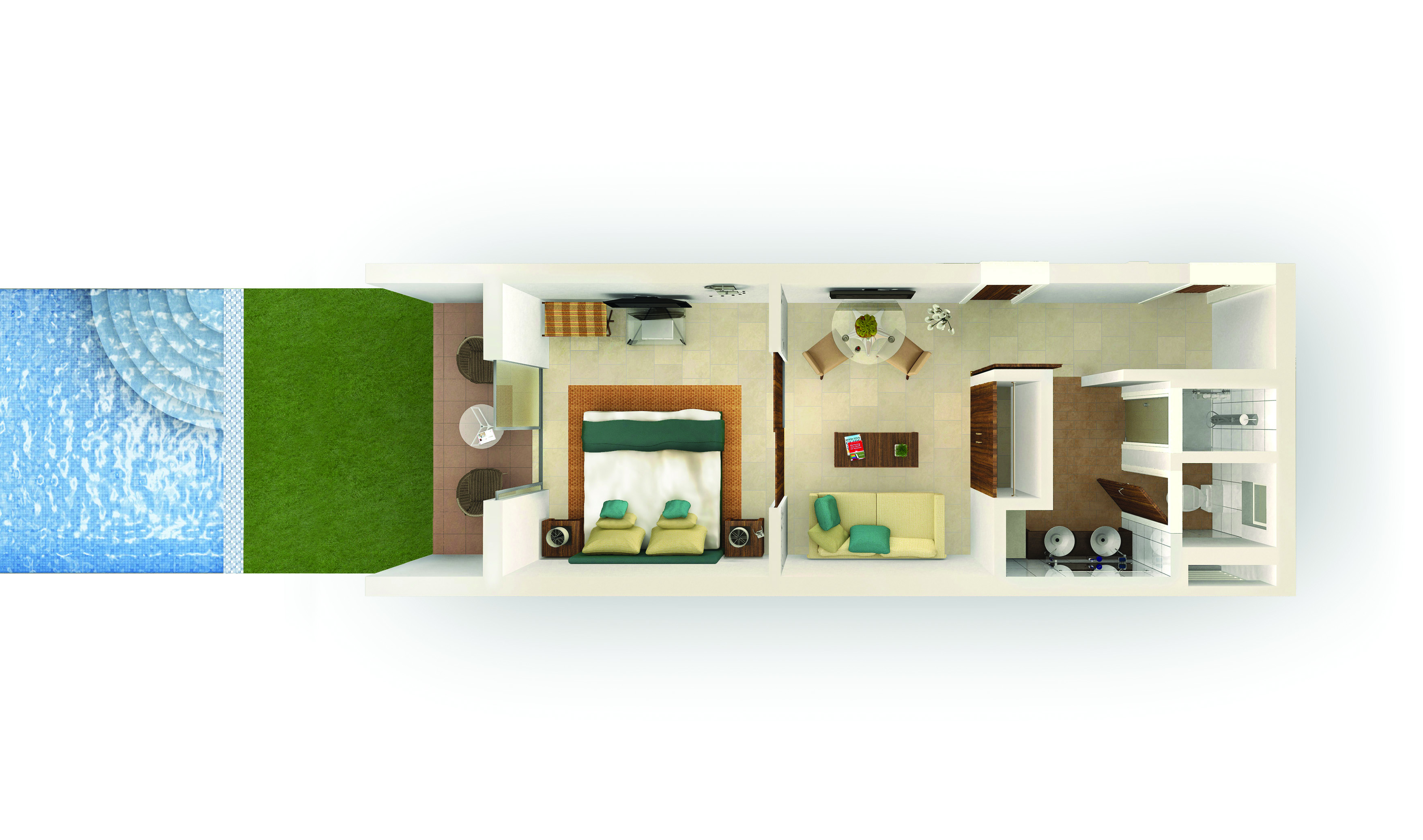 Deluxe Swip-up Suite Type F Floorplan