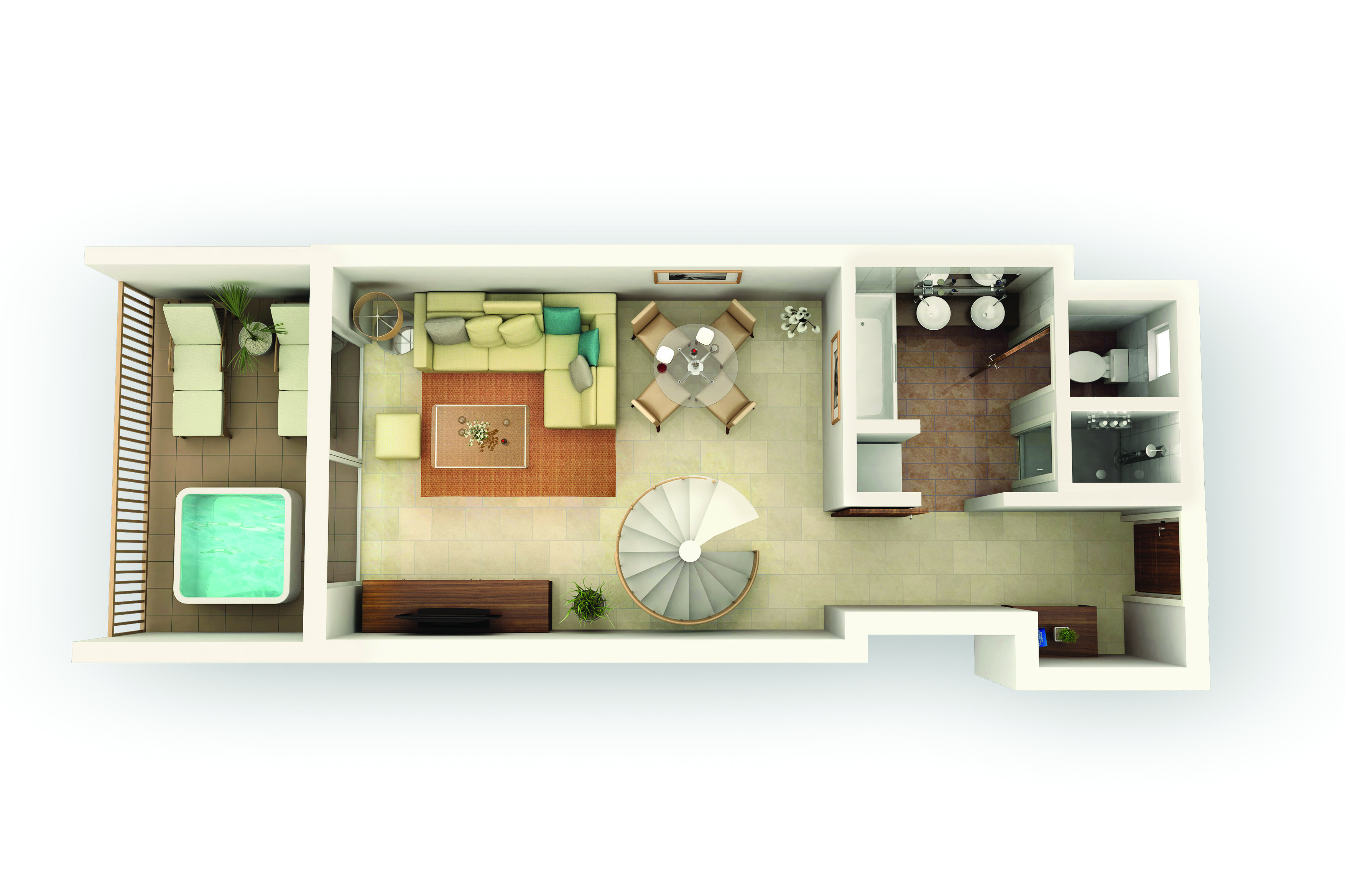 Duplex Suite Type U Ground Floorplan