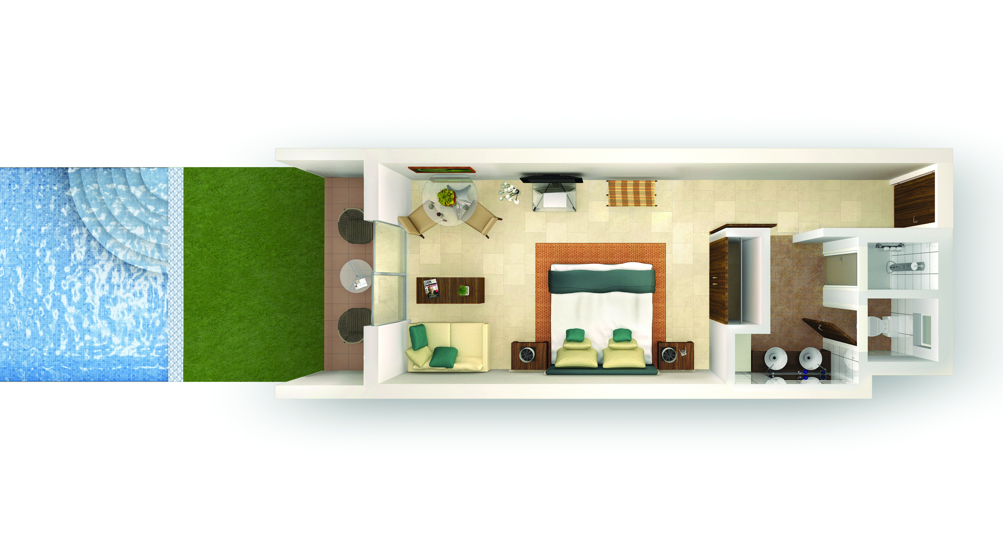 Premium Swim-up Suite Type C Floorplan